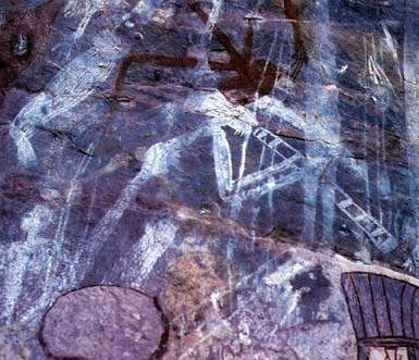Rock painting (uit Journey in Time, George Chaloupka)